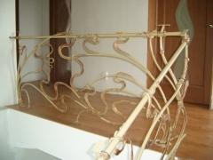 Фрагмент кованых перил модерн