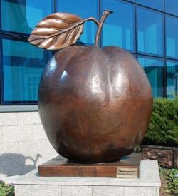 памятник медное яблоко